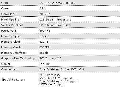 Foxconn 9800GTX-512N Extreme OC Video Card Review