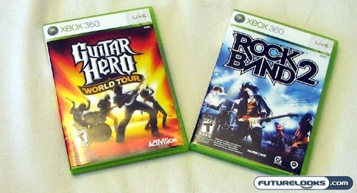 Guitar Hero World Tour vs Rock Band 2: Battle of Band Games