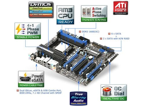 MSI 790FX-GD70 AM3 790FX Motherboard Review