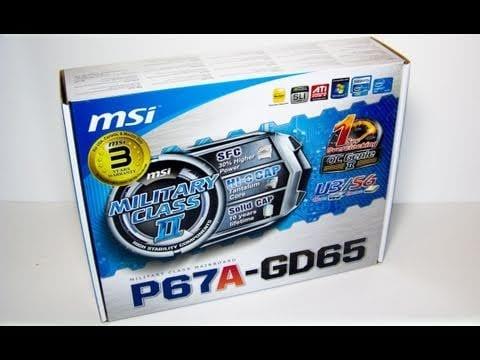 "Video - Futurelooks Unboxes the MSI P67A-GD65 LGA1155 ""Sandy Bridge"" Motherboard"