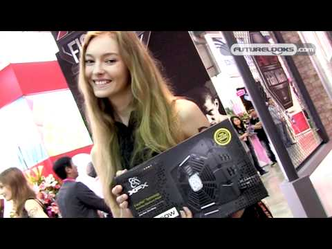 COMPUTEX 2011 Video Coverage - XFX Shows Off Patented War Pad Mousing Surface, Hot New EyeFinity Monitor Stand and New Power Supplies