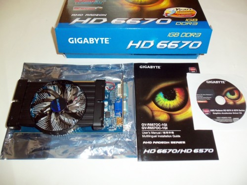 GIGABYTE HD 6670 OC 1GB Video Card Review