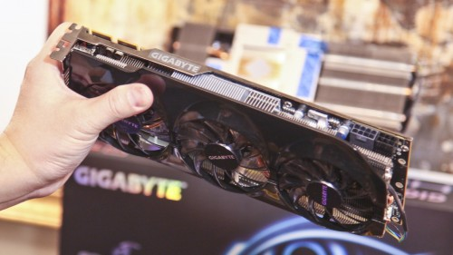 CES 2012 - GIGABYTE Clears Air on X79 Issues, Shows Off Their Intel Z77 Series, and Unveils Their HD 7970 Powered GPU (Video)