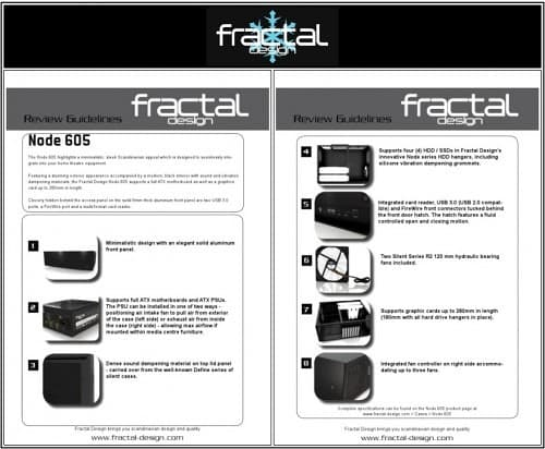 Fractal Design's NODE 605 Home Theatre PC Enclosure Reviewed