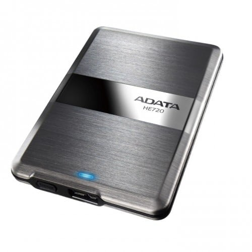 ADATA DashDrive Elite HE720 - World's Slimmest External Hard Drive Upgrades to 1TB