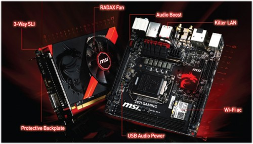 MSI's New Z87I GAMING AC and GTX 760 GAMING ITX Pack Max Performance in Mini Sizes