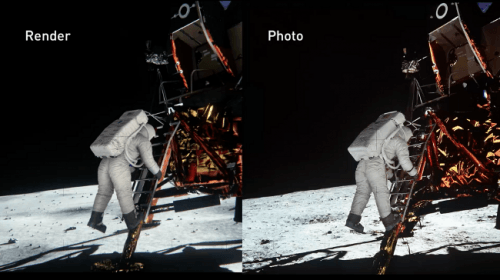 NVIDIA Moon Landing Demo Available for Download. Conspiracy Theorists Too.