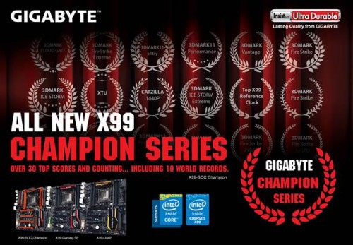 GIGABYTE X99 Champion Series Motherboards Arrive