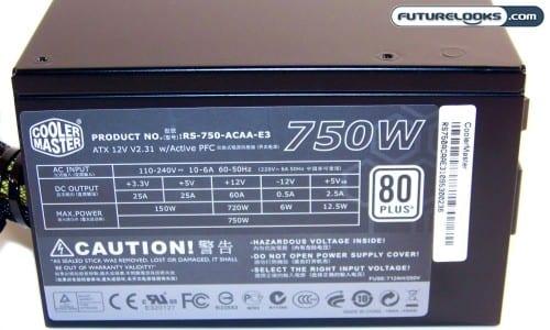 CoolerMaster GX Series 750 Watt ATX Power Supply Review