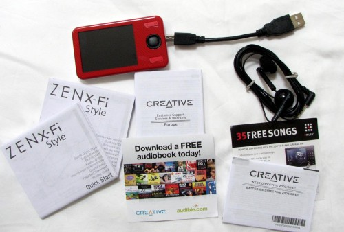 Creative Labs ZEN X-Fi Style Portable Media Player Review