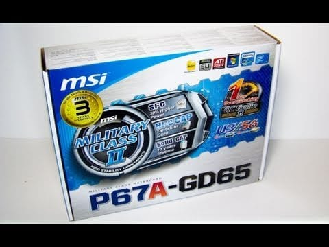 "Video - Futurelooks Unboxes the MSI P67A-GD65 LGA1155 ""Sandy Bridge"" Motherboard"
