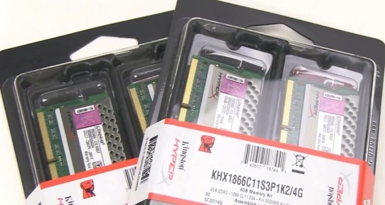 Kingston's HyperX Plug and Play (PnP) 8GB DDR3 SODIMM 1866MHz Dual Channel Notebook Memory Kit Reviewed (Video)