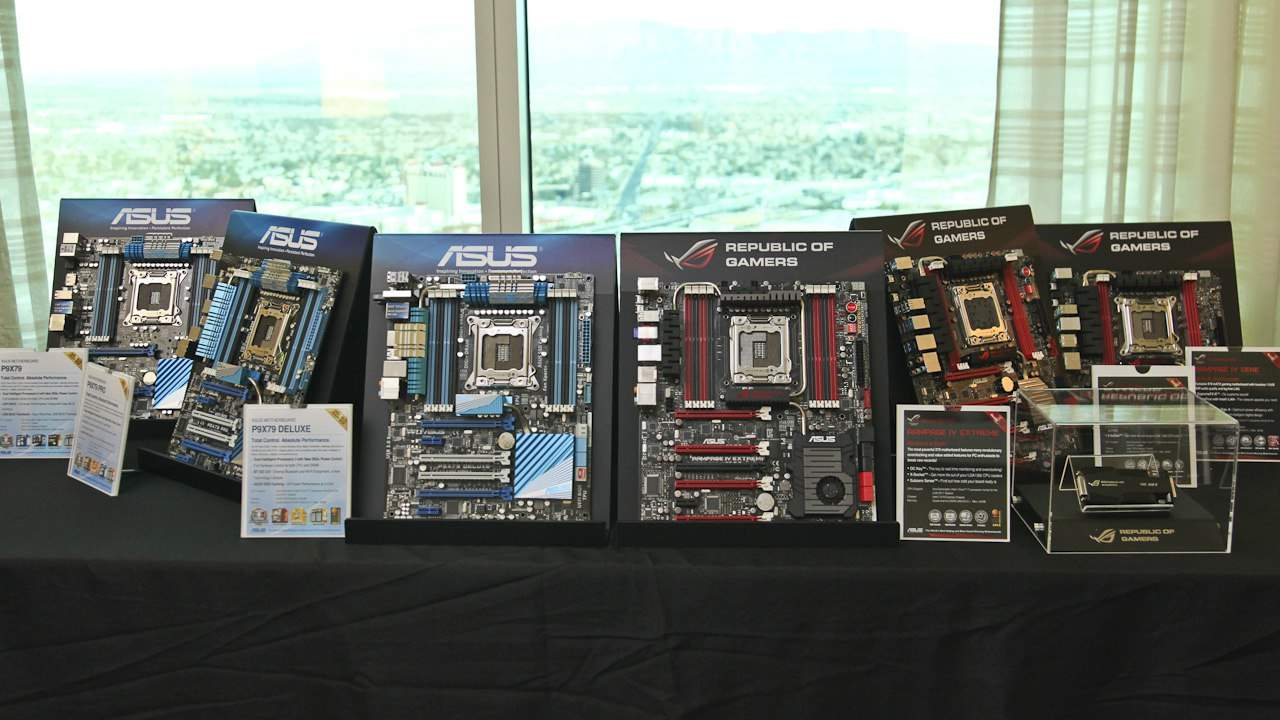 CES 2012 - ASUS Show Off New ROG X79 Boards, A Monster Workstation Board and WiFi Innovations for the Home (Video)
