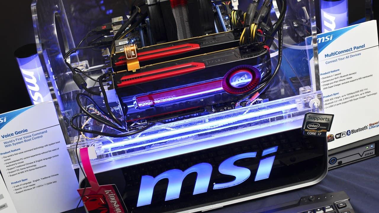 CES 2012 - MSI Shows Off HD 7970 GPU, New Cloud Overclock