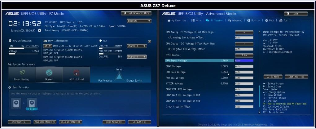 Intel Z87 Motherboard Round Up - ASUS Z87-Deluxe, GIGABYTE