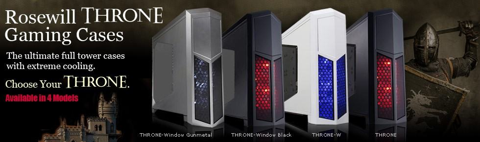 The Rosewill Throne Receives New Colors and a Windowed Option
