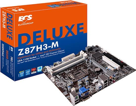 The ECS Z87H3-M is a Micro-ATX Motherboard Built for 4K Gamers on a Budget