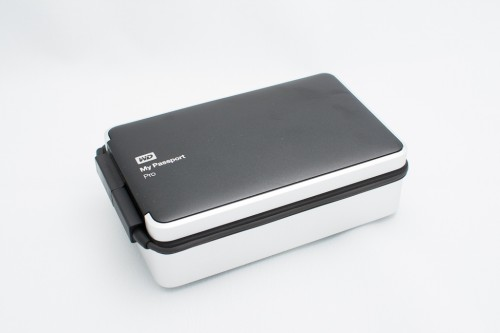 WD My Passport Pro 2TB top-down