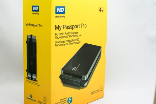 WD My Passport Pro 4TB box