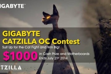 GIGABYTE Offer $1000 in Cash Prizes Over Cat Fight