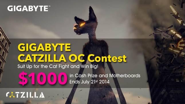 GIGABYTE Offer $1000 in Cash Prizes Over Cat Fight