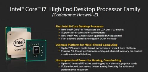 Intel Core i7-5960X Haswell-E Processor Specs 1