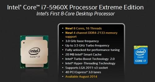 Intel Core i7-5960X Haswell-E Processor Specs 2