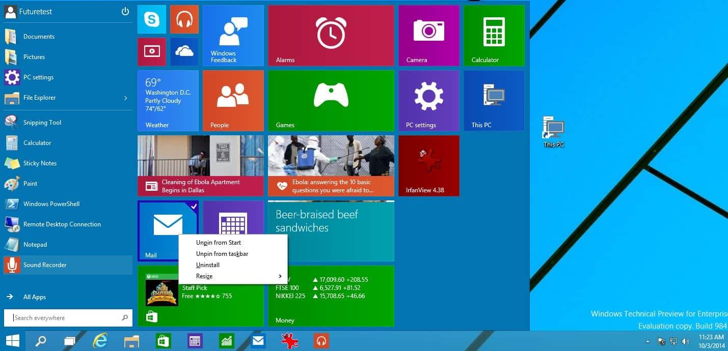 One Million People Testing Windows 10 Technical Preview