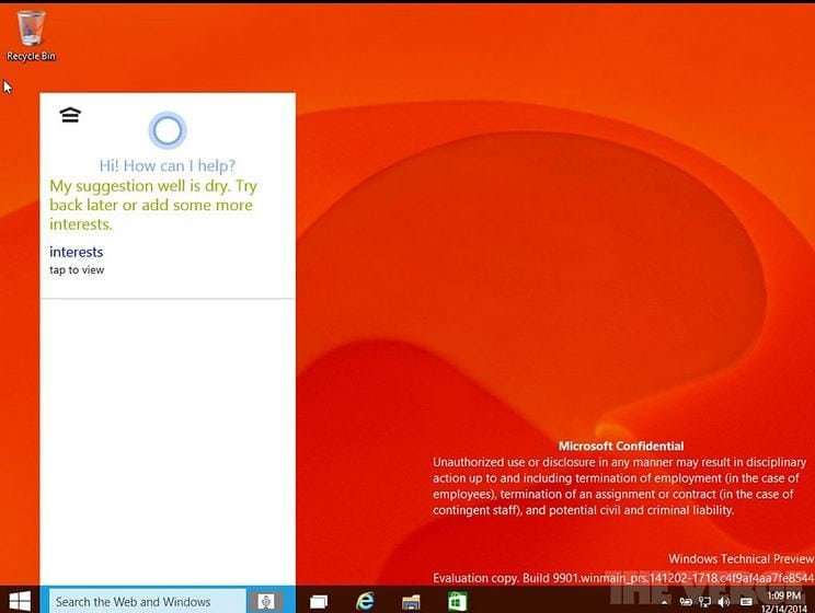 Windows 10 Build 9901 Features Cortana Integration and Xbox App