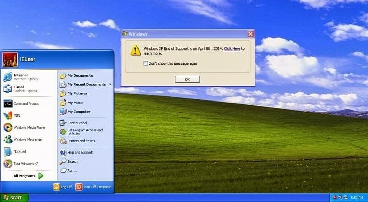 Not Only Does Windows XP Refuse to Die, It Overshadows Windows 8.x