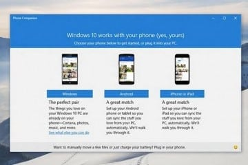 Introducing the Phone Companion App for Windows 10