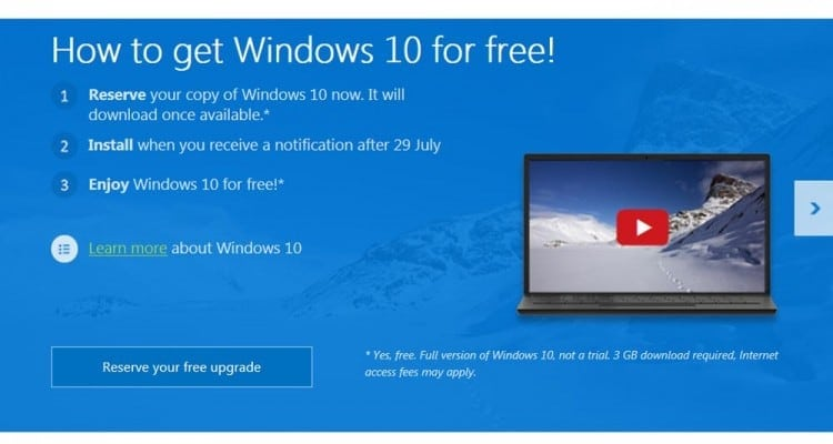 You Might Not Get Your Free Windows 10 Upgrade on July 29