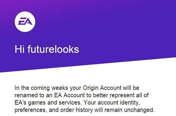 Your EA Origin Account Will Become An EA Account In The Coming Weeks