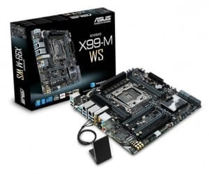 ASUS X99-M WS Has Phenomenal Workstation Power, Itty Bitty Motherboard Space