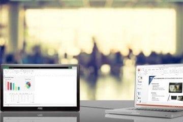 AOC HD Pro Monitor Extends Full HD Desktop via USB 3.0