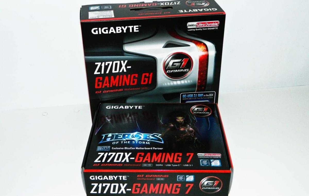 GIGABYTE GA-Z170X-Gaming 7 and GA-Z170X-Gaming G1 Motherboards Reviewed