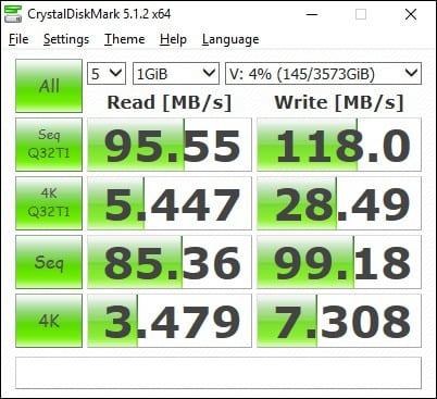 Synology DS216+ CrystalDisk