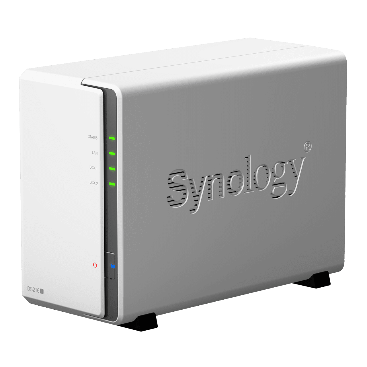 synology ds216j front angle