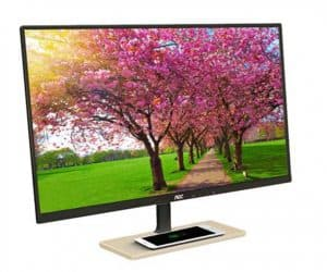 AOC P2779VC PLS Monitor with Integrated Qi Wireless Charging
