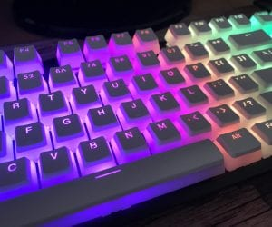 HyperX Double-Shot PBT Keycaps in White