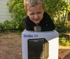 My Son with Drobo 5D