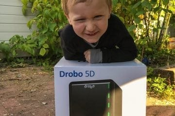My Son with Drobo 5D