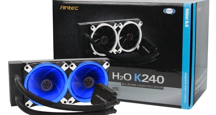 Antec Launches H₂O Kühler K120 and K240 AIO Liquid Coolers