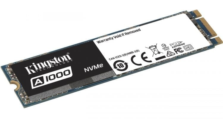 Kingston A1000 Entry-Level PCIe NVMe SSD with 3D NAND