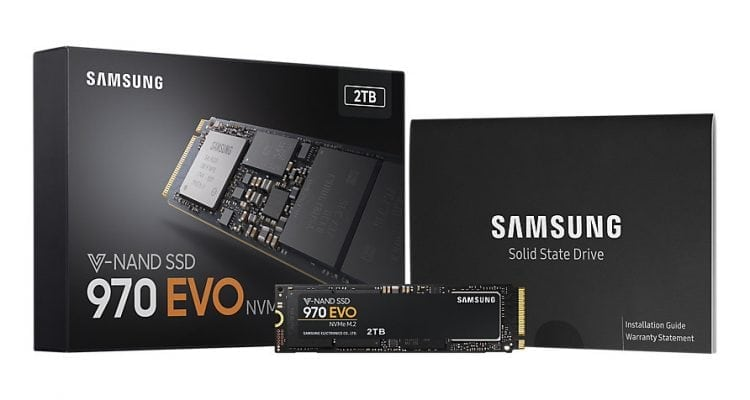 Samsung 970 EVO and 970 PRO Solid State Drives
